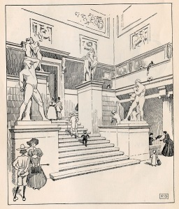 Illustration for P for Picture Gallery by Roger Oldham, 1906