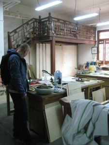Traditional print studio at the Central Academy for Fine Arts in Beijing