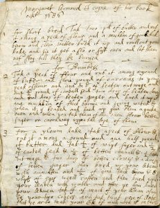 'A receipt book for all maner of pyes, pasties and all sort of creames', Margaret Ormond , 1686